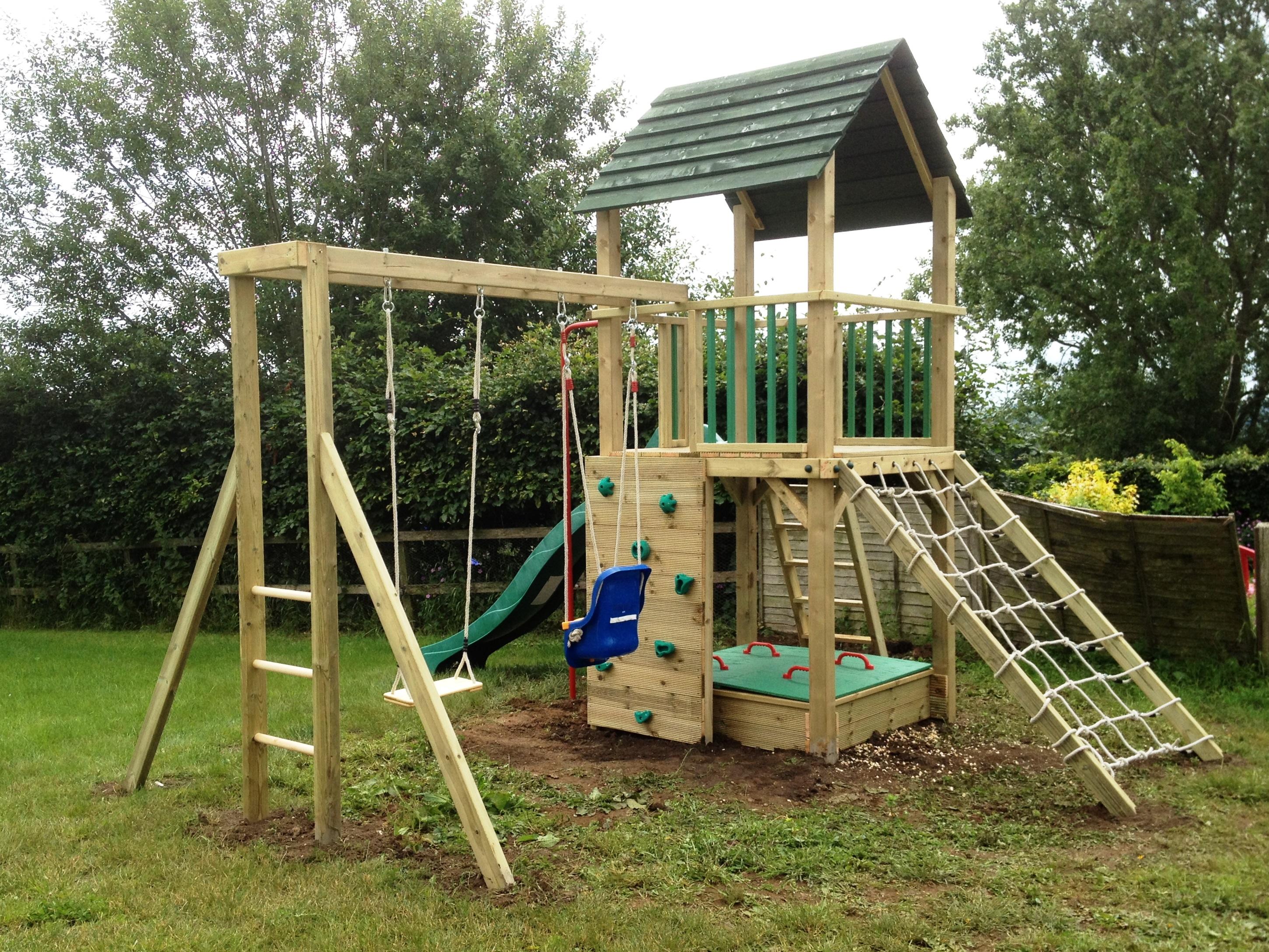 Meerkat Wooden Garden Swing Set - Wooden Designs
